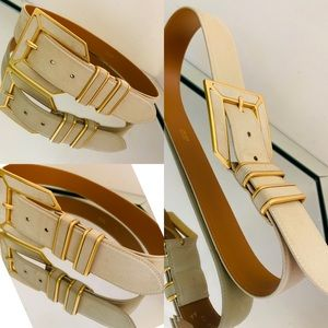 🔥🛍🛍💯Escada Suede Belt with Gold Tone Hardware.